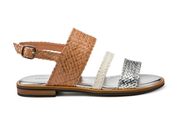 Sandalo Basso Elegante In Pelle