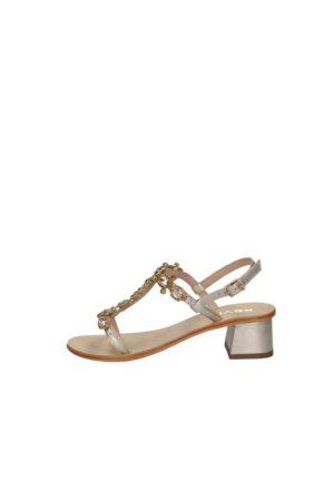 Sandalo Basso Donna Elegante Con Gioiello Colore Oro Keys K-5171